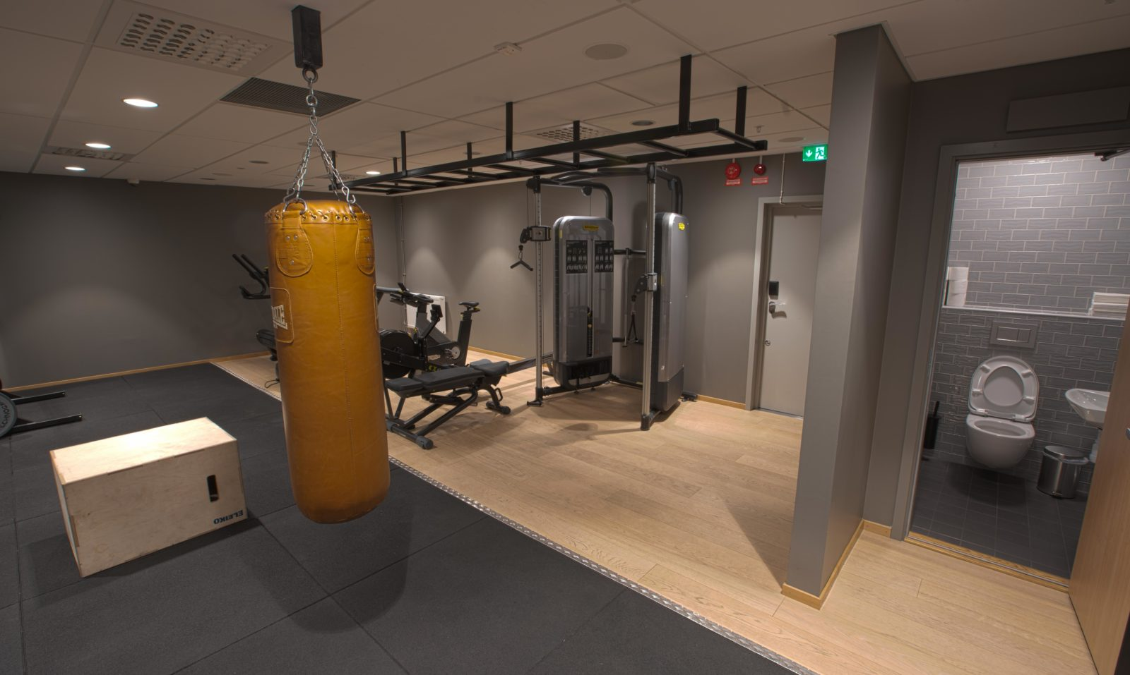 the fresh gym at Hobo Hotel in Stockholm