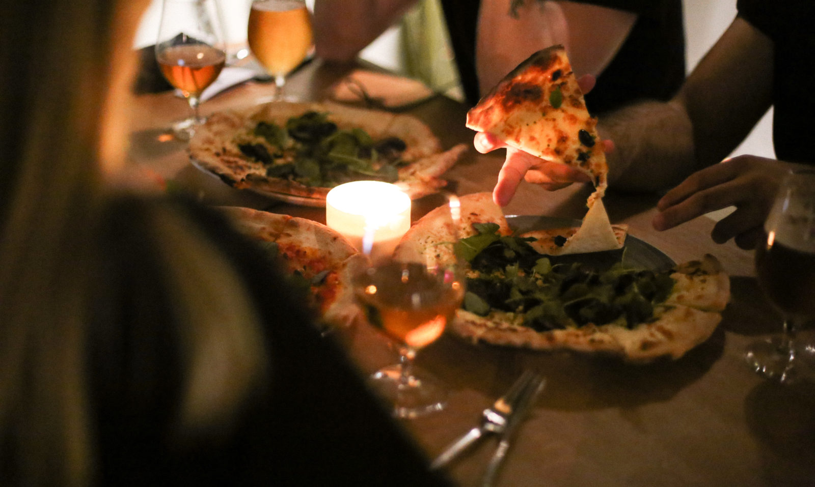 pizza dinner at Hobo Hotel in Stockholm