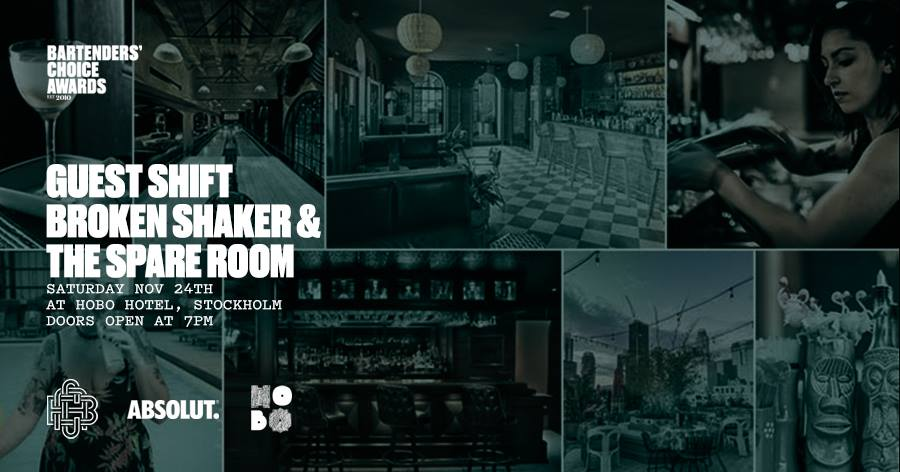 Broken Shaker + The Spare Room pop up bar